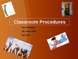 Classroom Procedures PowerPoint