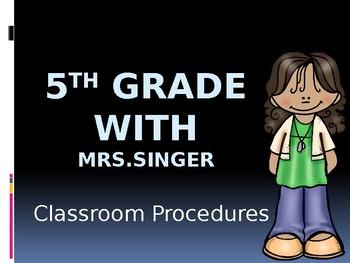 Classroom Procedures PowerPoint - Fully Editable