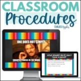 Classroom Procedures Presentation with Memes (Editable!)