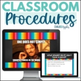 Classroom Procedures PowerPoint with Memes (Editable!)
