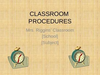 Classroom Procedures Powerpoint