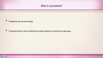 Classroom Procedures Powerpoint (Pink and White Polka Dot Theme)