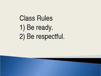 Classroom Procedures Powerpoint Presentation