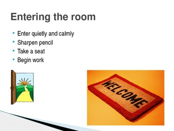 Classroom Procedures Powerpoint for Beginning of Year