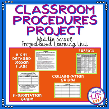 Classroom Procedures Project - A Middle School Project-Based Lesson (PBL)