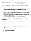 Classroom Procedures Quiz