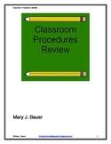 Classroom Procedures Review