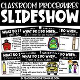 Classroom Procedures Routines PowerPoint Back to School Sl