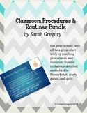 Classroom Procedures & Routines: Slides, Study Guide & Quiz Bundle (Editable)