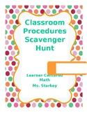 Classroom Procedures Scavenger Hunt