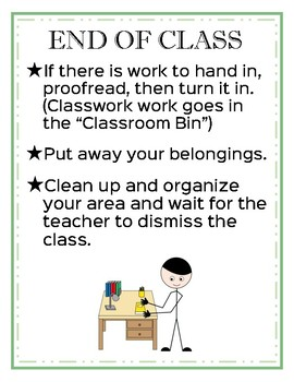 Classroom Procedures:  Scavenger Hunt and Posters