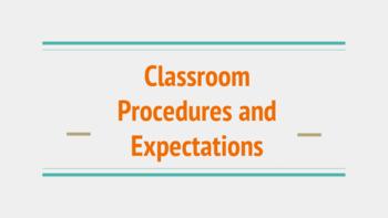 Classroom Procedures Slideshow