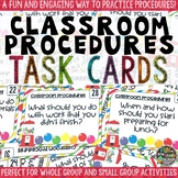 Classroom Procedures Task Cards for Classroom Management