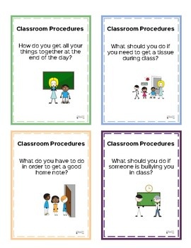 Classroom Procedures-Task Cards