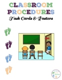 Classroom Procedures:  Task Cards And Posters