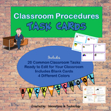 Classroom Procedures Task Cards - Back to School