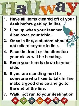 Classroom Procedures Template