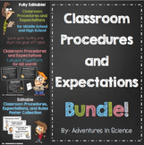 Classroom Procedures and Expectations Bundle