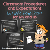 Classroom Procedures and Expectations {Editable} PowerPoin