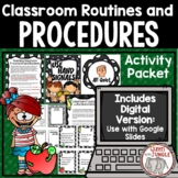 Back to School Classroom Procedures and Routines Task Card