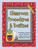 Classroom Procedures and Routines (Perfect for the beginning of the year!)
