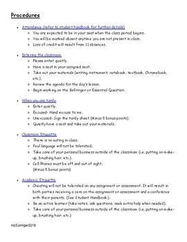 Classroom Procedures for High School Students