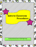 Classroom Procedures for the First Few Weeks of School