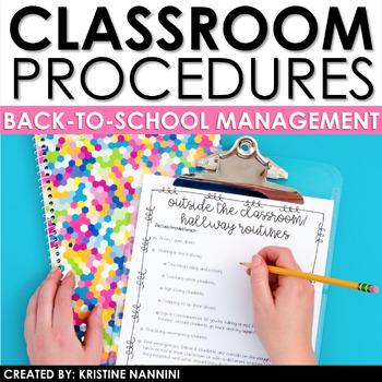 Classroom Procedures - Back to School Classroom Management First Week of School