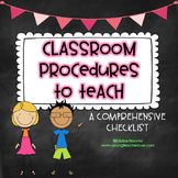 Classroom Procedures and Routines - Back to School Classro