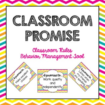 Classroom Promise Behavior Management Class Rules Posters