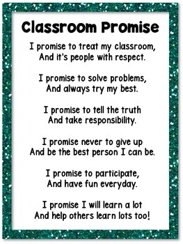 Classroom Promise Poster