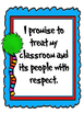 Classroom Promises- Red and Blue Wacky