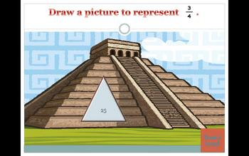 Classroom Pyramid Fraction Powerpoint Game