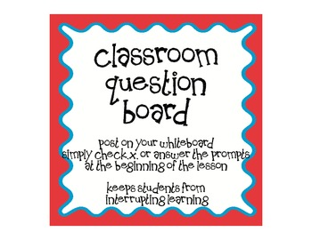Classroom Question Management