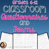Classroom Questionnaires