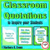 INSPIRING QUOTATIONS: Blue Green Theme Classroom Decor Critical Thinking