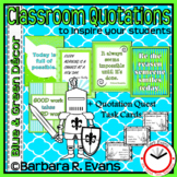 INSPIRING QUOTATIONS Blue Green Theme Classroom Decor Critical Thinking GATE