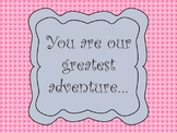 Classroom Quote Adoption Quote Decoration Pink Gray Great