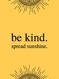 Classroom Quote: Be Kind.