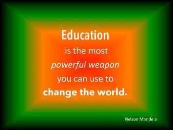 Classroom Quote - Nelson Mandela