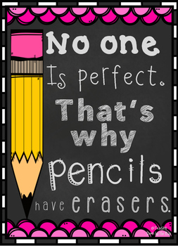 Classroom Quote - No One Is Perfect