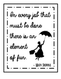 Classroom Quote Poster (Mary Poppins)