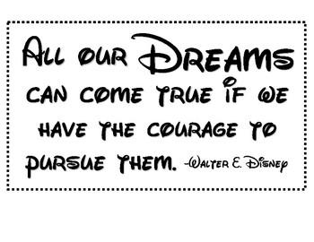 Classroom Quote Poster (Walter Disney)