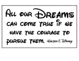 Classroom Quote Poster (Walter Disney)