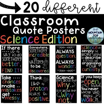 Classroom Quote Posters--SCIENCE EDITION--Classroom Decor