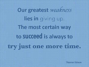 Classroom Quote - Thomas Edison