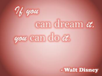 Classroom Quote - Walt Disney