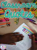 Back to School Classroom Decor - Color the Quotes