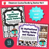 Classroom Quotes Bundle - Inspirational and Motivational