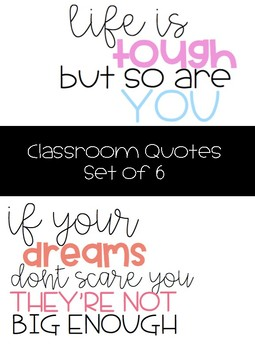 Classroom Quotes Decor